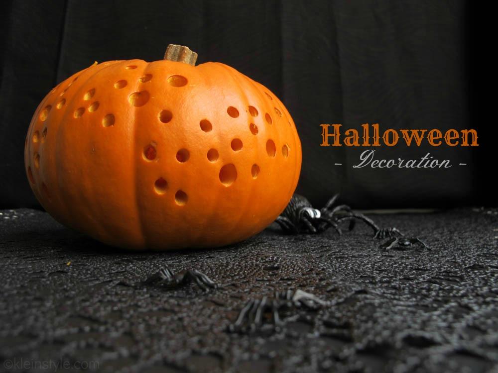 halloween pumpkin decoration by kleinstyle.com