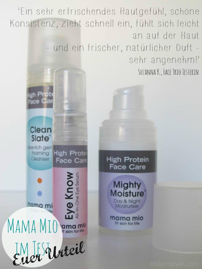 MAMA MIO im test euer Urteil Zitat Face Trio by kleinstyle.com