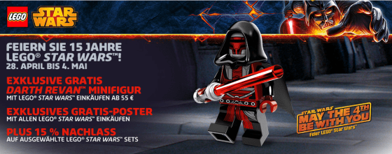 May the FOURTH be with you! : LEGO Aktion