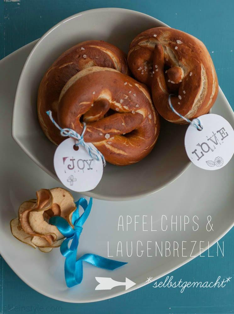 Food Friday : Apfelchips und Laugenbrezeln