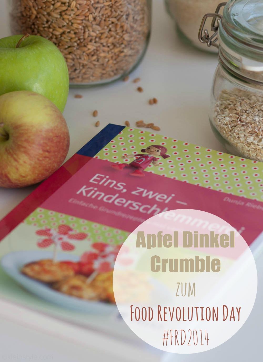 Food Revolution Day : Kocht mit euren Kindern! {Apfel-Dinkel-Crumble}