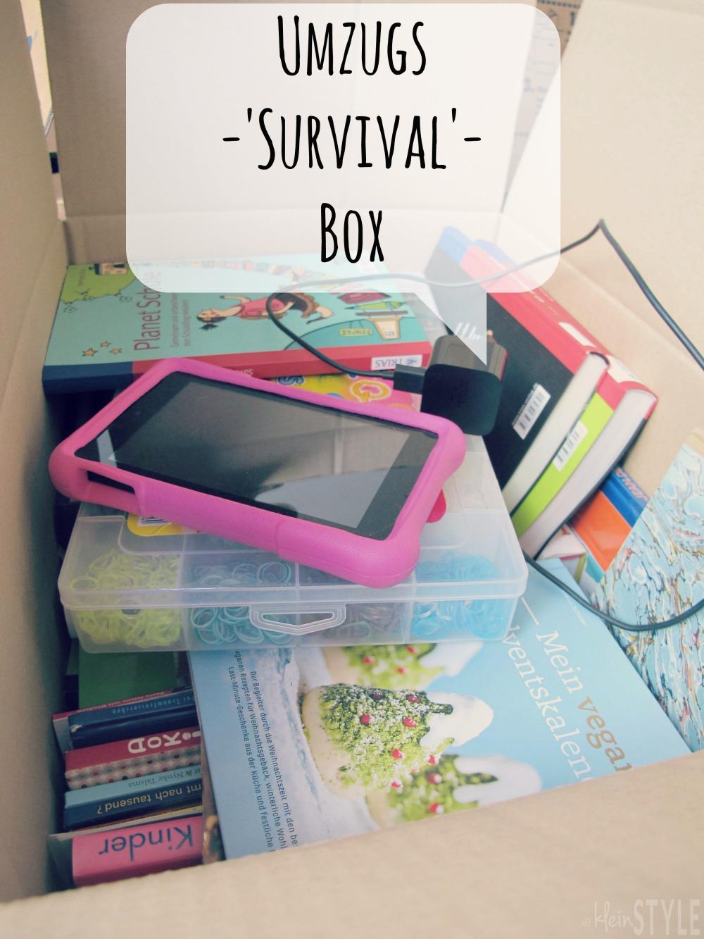 (Deutsch) Umzug :  nicht ohne Survival Box!