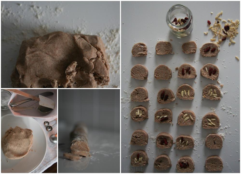 rein pflanzliche Zitronenkekse Rezeot aus Mein veganer Adventskalender von Franzi Schädel Kosmos Verlag by ©kleinstyle.com for BYW project collage 02