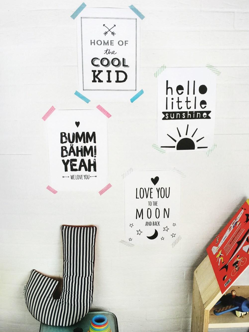 KReatives Kinderzimmer von Gregor Faubel und Julia Romeiss aus dem blv Verlag Rezension auf kleinstyle.com -gratis Poster