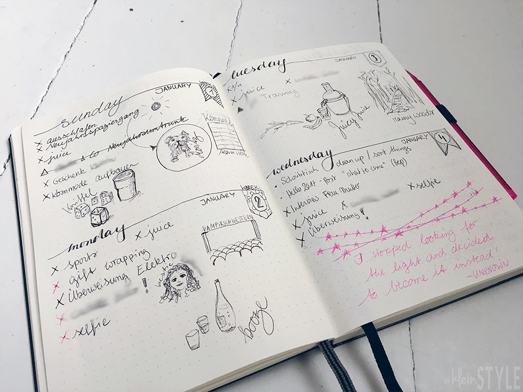 bullet-journal-daily-by-kleinstyle.com
