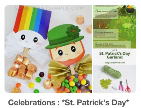 Sankt Patrick's Day Pinterest Board kleinstyle