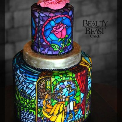 Glasmalerei Torte