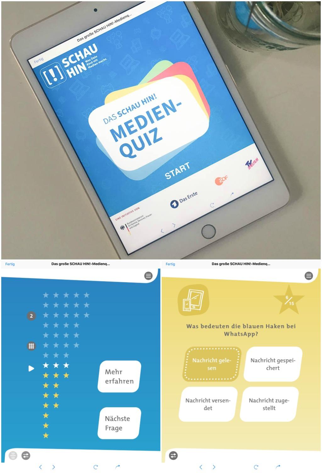 Medienquiz schau hin _gratis Medienguide App Elternratgeber by kleinstyle.com