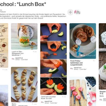 Leidthema Essen auch in der Schule - Lunch Box Ideen auf PInterest