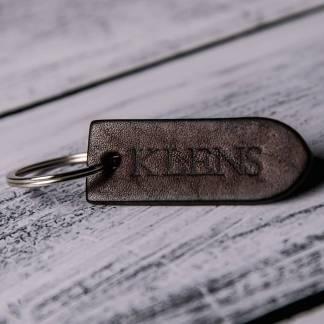 Кожаный брелок для ключей коричневый