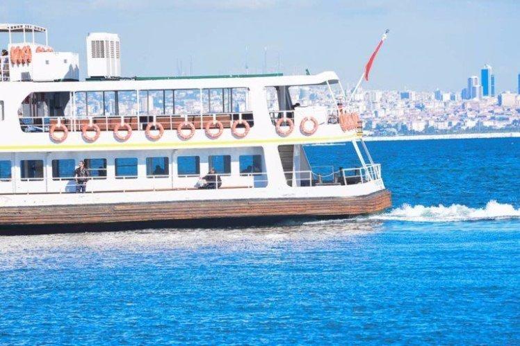 Azul do Estreito de Bósforo em Istambul