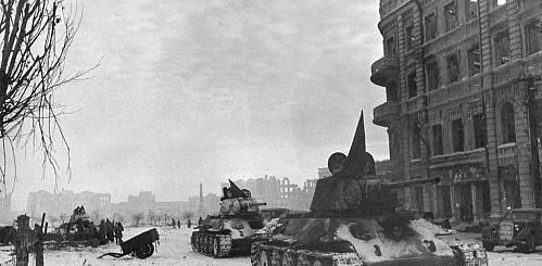 Этапы Сталинградской битвы - 22 января