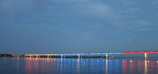 ОНФ в Волгоградской области организовал уникальную подсветку моста через Волгу в цвета триколора