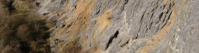 Klettern im klettergebiet unterer Elberskamp