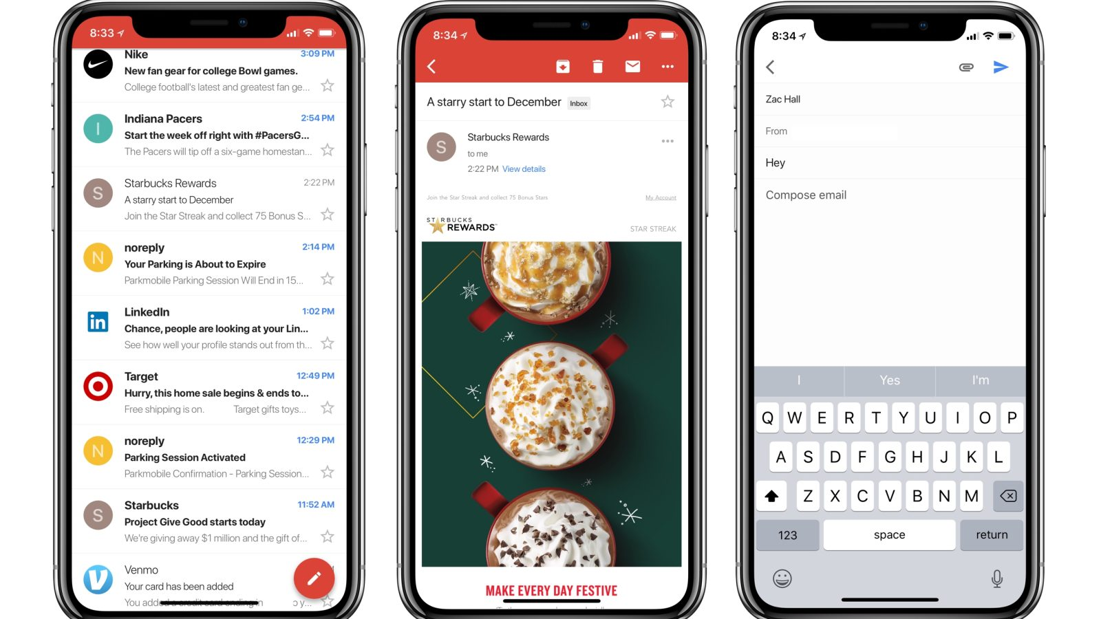 Gmail app adds support for iPhone X, third-party accounts