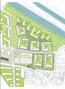 Wasserstadt 1. Bauabschnitt Lageplan am 08.07.2015