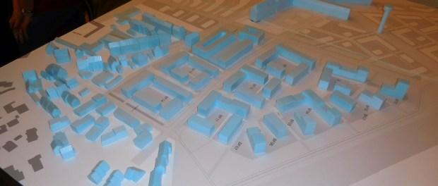 Modell der Wasserstadt Limmer zum Stand Halbzeit Bürgerdialog