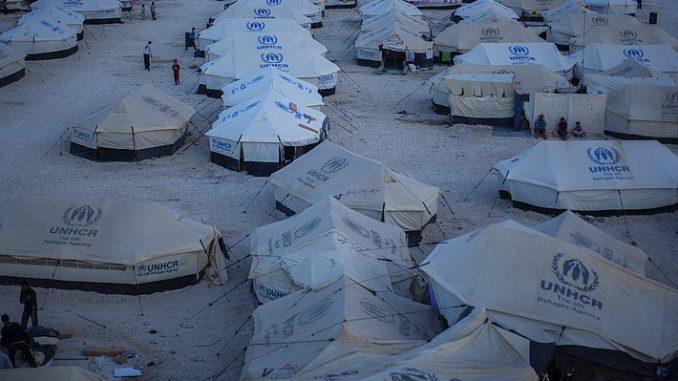 Zelte im Flüchtlingscamp des UNHCR