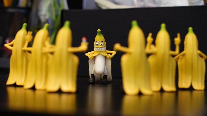 Banane als Exhibitionist