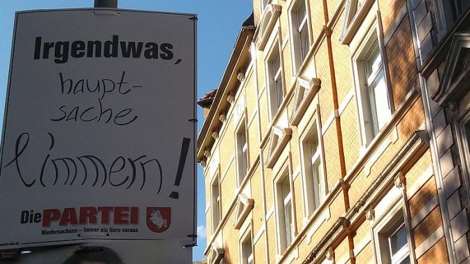 Plakat zur Kommunalwahl Niedersachsen 2016: Hauptsache Limmern