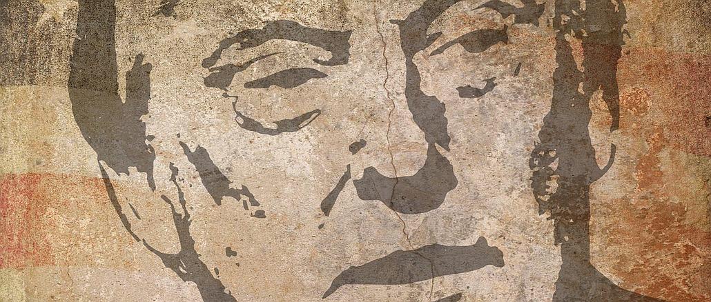 US Präsident Donal Trump künstlerisch verfremdet