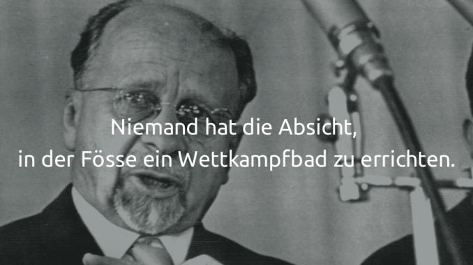 Walter Ulbricht: Niemand hat die Absicht...