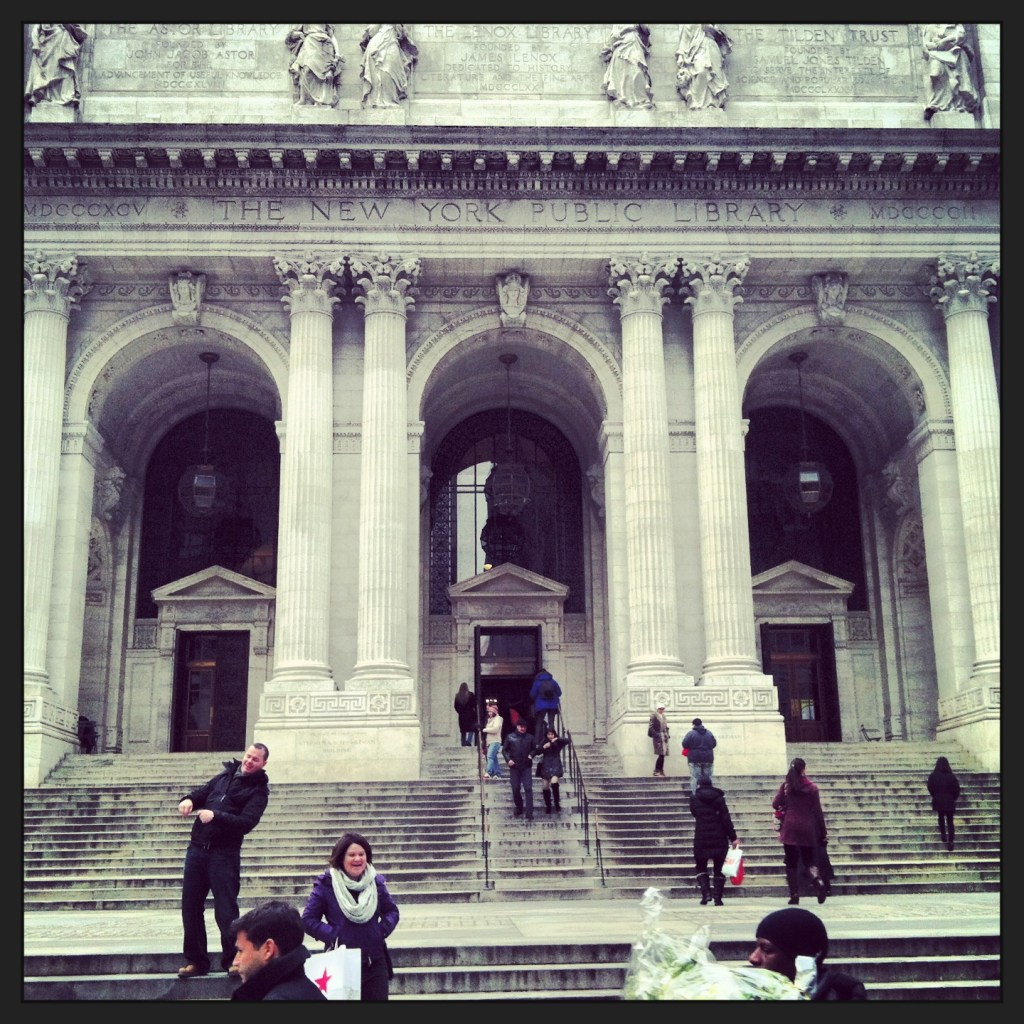 Hanging out at the New York Public Library