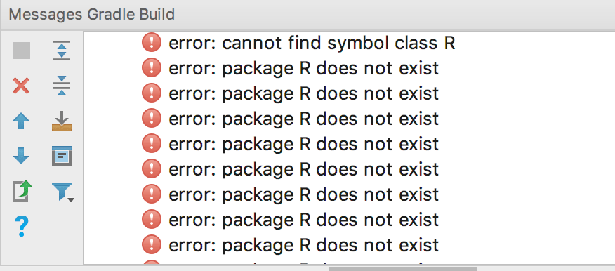 "Mengatasi error ""package R does not exist"" di Android Studio"