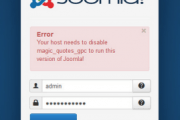 "Cara mengatasi  ""Joomla Error Your host needs to disable magic_quotes_gpc"""