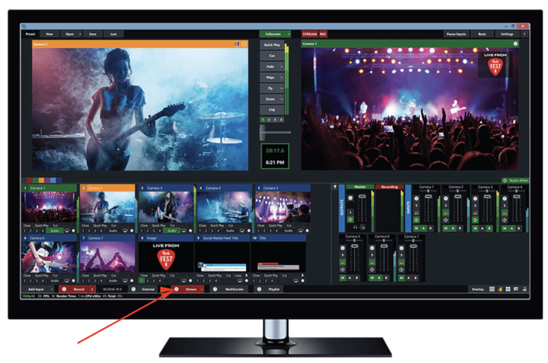 Pengaturan Video Streaming Server RTMP di Vmix