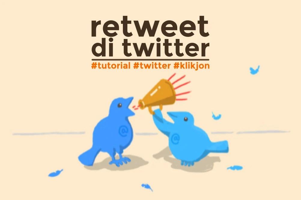 cara retweet di twitter