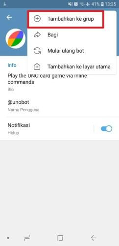 cara menambahkan bot ke grup telegram