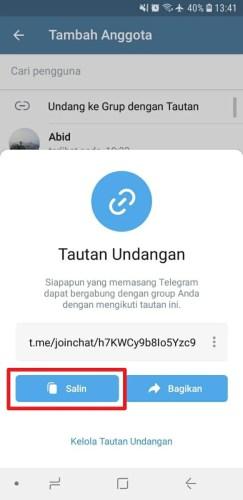 cara menambah anggota grup telegram