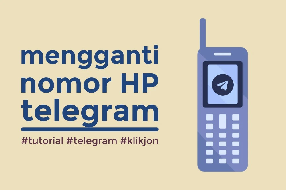 cara mengganti nomor telegram