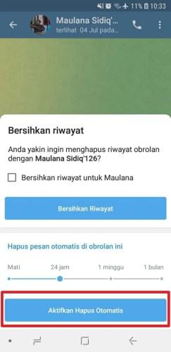 cara menghapus pesan telegram secara otomatis