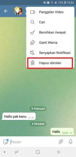 cara menghapus semua pesan di telegram