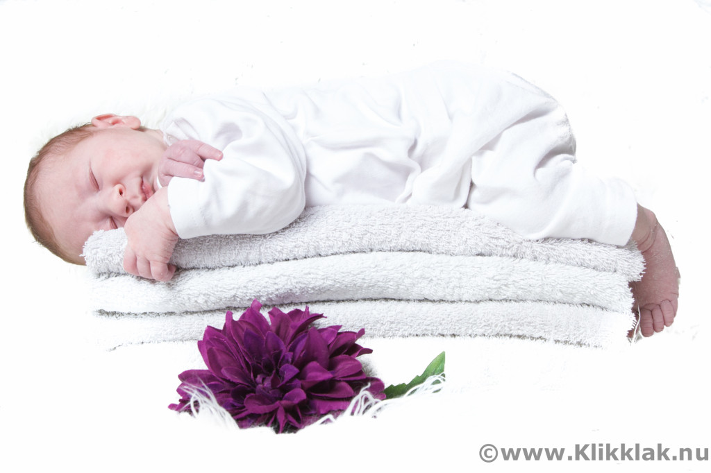 Fotoshoot met kinderen in de studio, newbornshoot