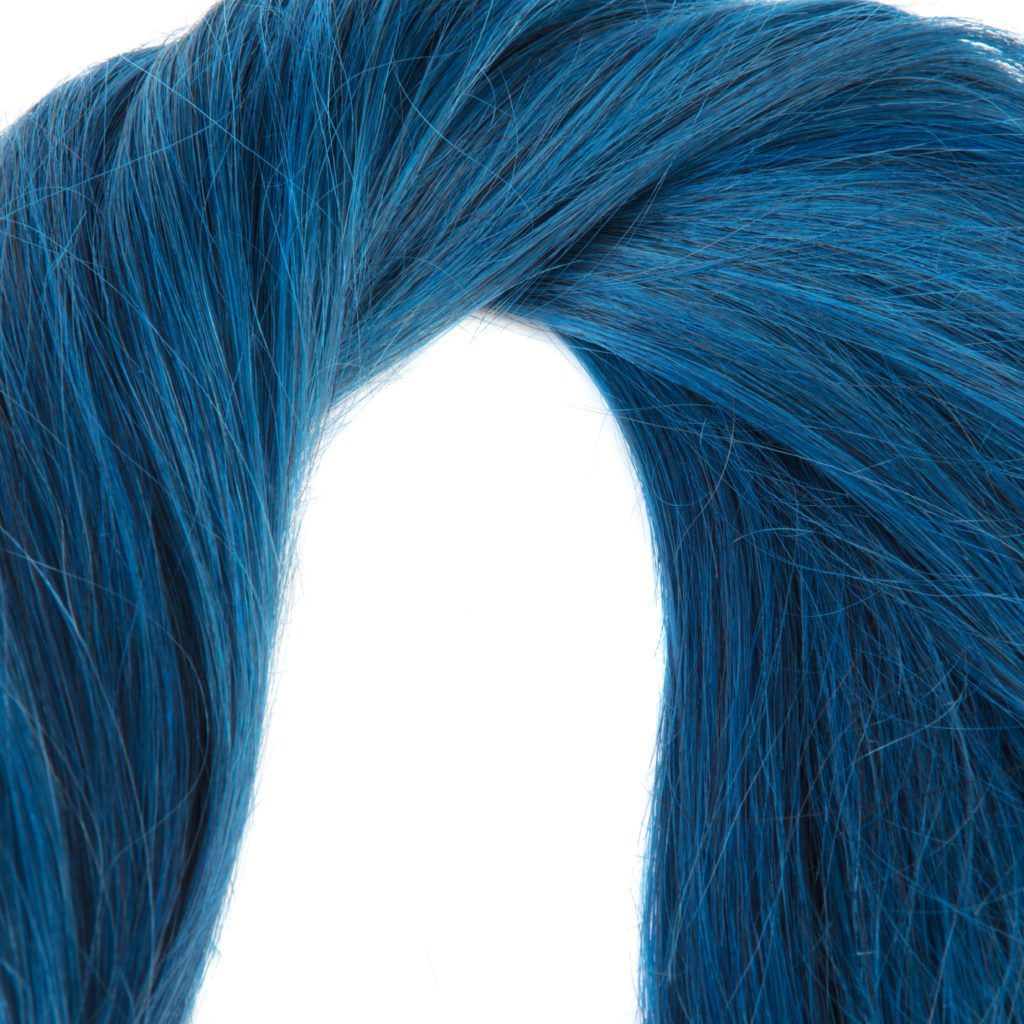 hairextensions productfotografie bestemd voor webshop kleur BLUE Remy