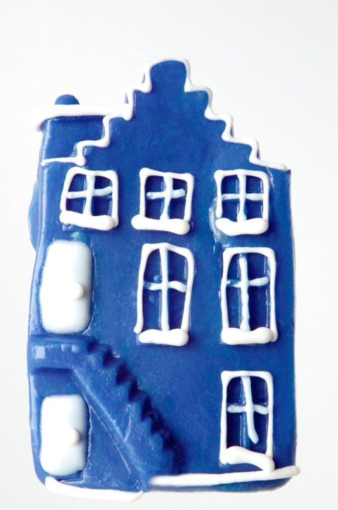 Blauw Hollands huis van snoep