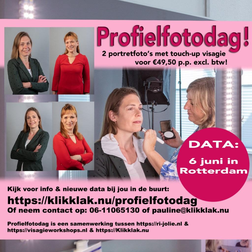 profielfotodag, kom een portretfoto op 6 juni laten maken in Rotterdam!
