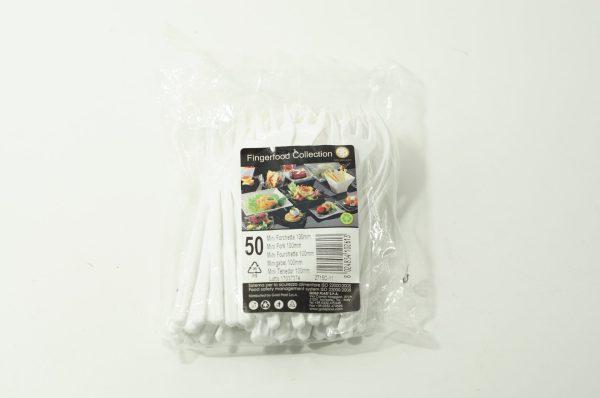 Πλαστικό Πιρουνάκι Μίνι 10cm 50ΤΕΜ
