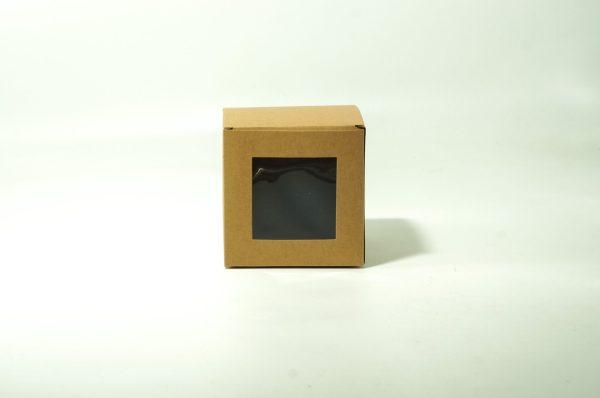 Κουτί Χάρτινο Κύβος Με Παράθυρο 10cm