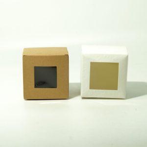 Κουτί Χάρτινο Κύβος Με Παράθυρο 8cm