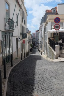 Lisbon is full of streets like this - but in various states of decay...