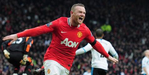 Rooney, setelah berhasil menjebol gawang Liverpool (sumber: bola.net)