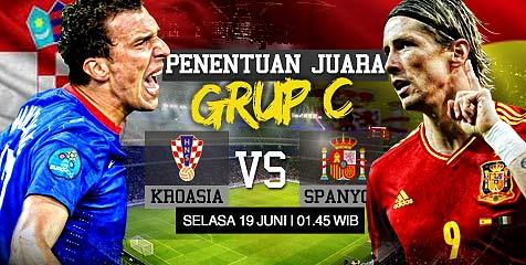 Preview: Kroasia vs Spanyol, penentu takdir grup C