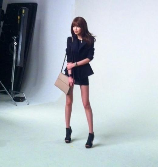 Tanpa editing, Sooyung tampil cantik ketika menjalani pemotretan.