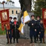 Image for 22 сентября казаки МОКО СКР участвовали в архиерейской службе в Иосифо-Волоцком монастыре