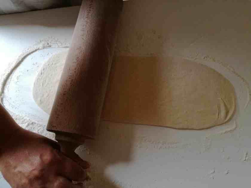 Mise en forme des pâtons fougasse