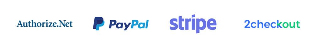 payment processor integration authorize.net stripe paypal 2checkout